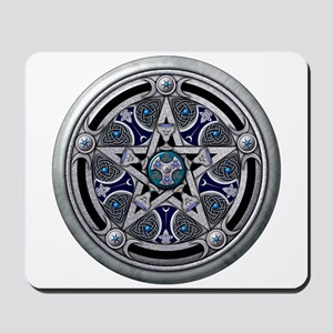 Silver Pagan Pentacle Mousepad