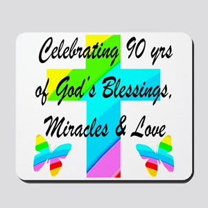 90 YR OLD BLESSING Mousepad