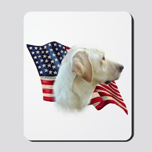 Yellow Lab Flag Mousepad