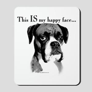 Boxer Happy Face Mousepad