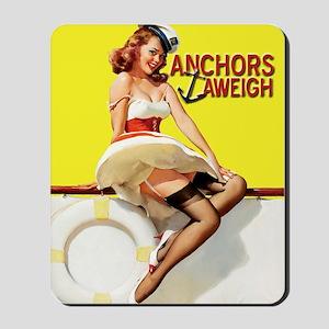 anchors aweigh yellow Mousepad