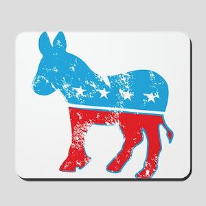 Democrat Donkey (Grunge Texture) Mousepad