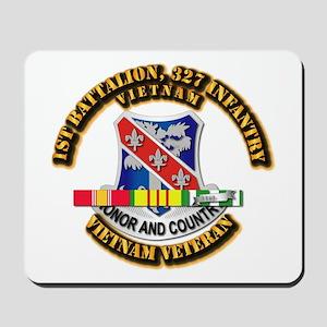 Army - 1st Battalion, 327 Infantry w SVC Ribbons M