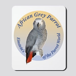 Einstein of the Parrot World (African Gr Mousepad
