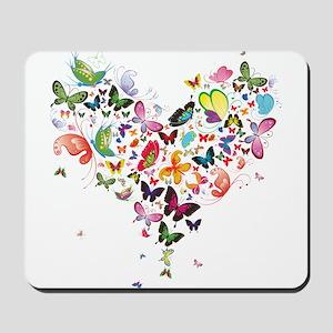 Heart of Butterflies Mousepad