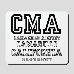 AIRPORT JETPORT CODES - CMA - CAMARILLO Mousepad