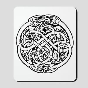 Zoomorphic Celtic Circle Mousepad
