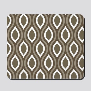 Ogee Tan Pattern Mousepad