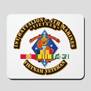 1st Bn - 4th Marines w VN SVC Ribbon Mousepad