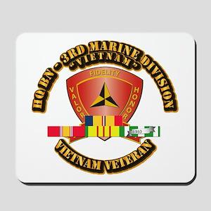 USMC - HQ Bn - 3rd Marine Division w VN SVC Ribbon