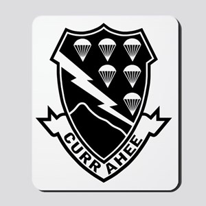 Army-506th-Infantry-Currahee-Black-White Mousepad