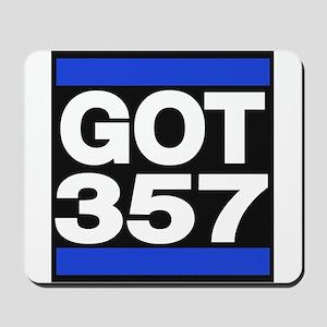 got 357 blue Mousepad