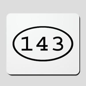 143 Oval Mousepad