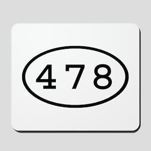 478 Oval Mousepad