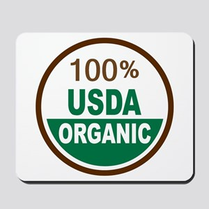 100% USDA Organic... Mousepad