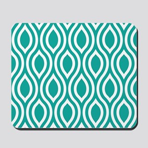 Ogee Teal Retro Mousepad
