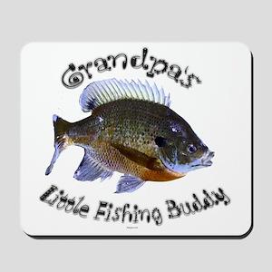 Grandpas fishing buddy Mousepad