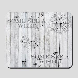 Dandelion Wish Mousepad