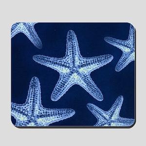 beach blue starfish Mousepad