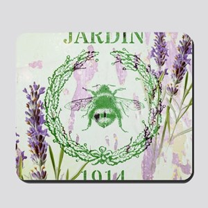 bee lavender french country Mousepad