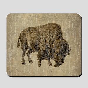 Vintage Bison Mousepad