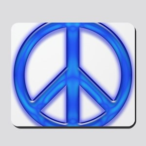 peaceGlowBlue Mousepad