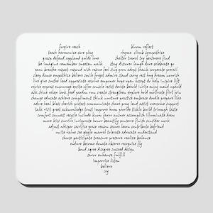 Verb Heart Mousepad