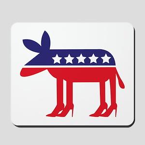 Democratic Donkey on Heels Mousepad