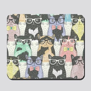 Hipster Cats Mousepad