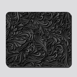 Black Flourish Mousepad