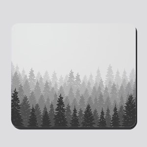 Gray Forest Mousepad
