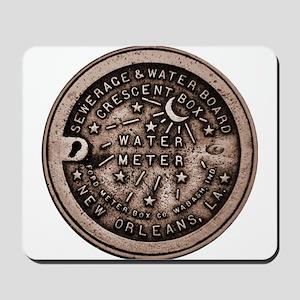 New orleans Water Meter Lid Mousepad
