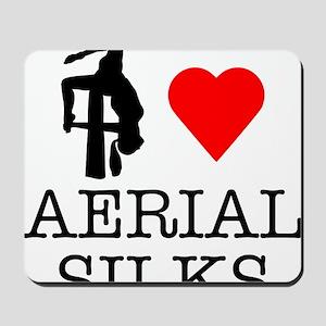 I Love Aerial Silks Mousepad