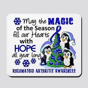 Holiday Penguins RA Mousepad