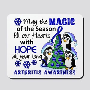 Holiday Penguins Arthritis Mousepad
