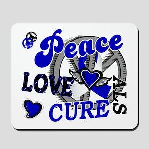 Peace Love Cure ALS 2 Mousepad