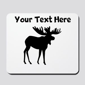 Custom Moose Silhouette Mousepad
