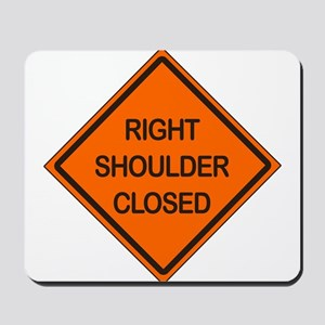 Right Shoulder Closed Mousepad