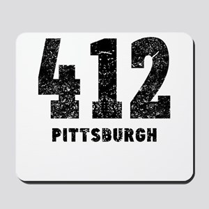412 Pittsburgh Distressed Mousepad