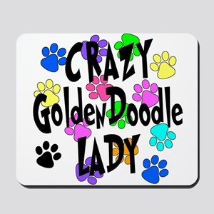 Crazy Goldenddoodle Lady Mousepad
