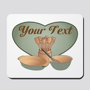 Cook or Chef Personalized Sage Green Mousepad
