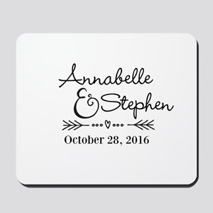 Couples Names Wedding Personalized Mousepad