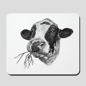 Happy Holstein Friesian Dairy Cow Mousepad
