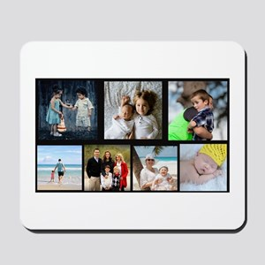 7 Photo Family Collage Mousepad
