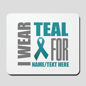 Teal Awareness Ribbon Customized Mousepad