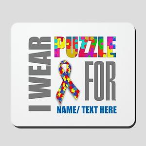 Autism Awareness Ribbon Customized Mousepad