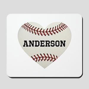 Baseball Love Personalized Mousepad