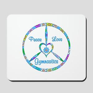Peace Love Gymnastics Mousepad