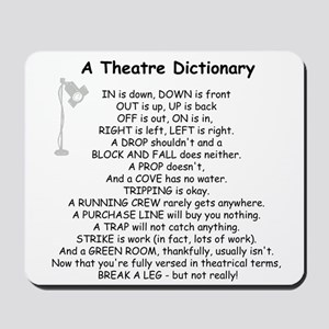 A Theatre Dictionary Mousepad