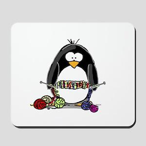 Knitting Penguin Mousepad
